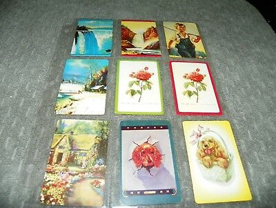 #57  -  Mixed Lot  - 9 Single Vintage Blank Back Swap Trading Cards    LAST CALL