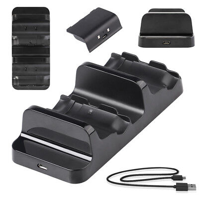 For Xbox One Controller Dual Charger Prodico Charging Dock Station+2 Batteries