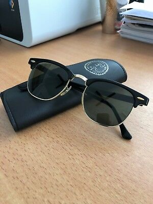 aaae826611782f Original Vintage Ray Ban U.S.A. Sonnenbrille Model Clubmaster Bausch   Lomb