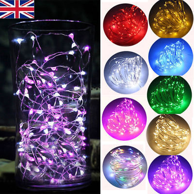 Battery & Plug 10/20/40/150 LED Micro Rice Wire Silver Fairy String Lights Party