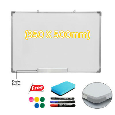 500 X 350MM Office School Magnetic Dry Whiteboard Drawing Memo Notice Board UKED