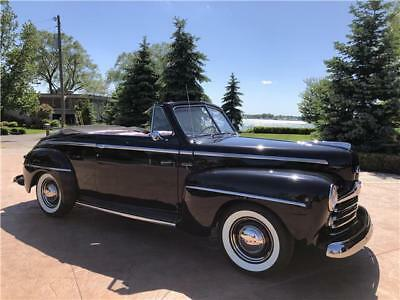 1948 Ford Other -- 1948 Ford Super Deluxe Black Convertible 55 T-Bird Y Block Manual