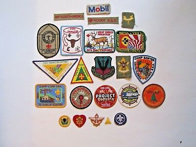 Mixed LOT of 23 Vintage Boy Scout 70s 80s patches never sewn on/used