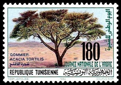 TUNESIEN ** 1992 MiNr. 1254 Nationaler Tag des Baumes / Day of the Tree