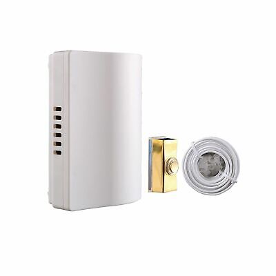 Byron 765 Wired Wall Mounted Battery Door Bell Chime Kit with Brass Bell Push an