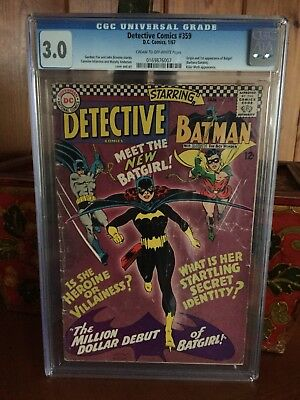 DETECTIVE COMICS #359 CGC 3.0 1st App and Origin Batgirl - Barbara Gordon