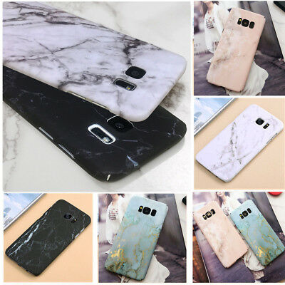 For Samsung Galaxy S7 S8 S9 Plus Note8 Hard Case Shockproof Marble Pattern Cover