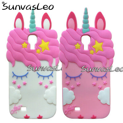 For Samsung Galaxy S4 SIV i9500 3D Unicorn Soft Silicone Case Phone Cover Skin