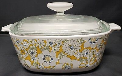 Vintage Corning Ware Floral Bouquet 2nd Edition P-1 1/2-B Gift Line 70-71