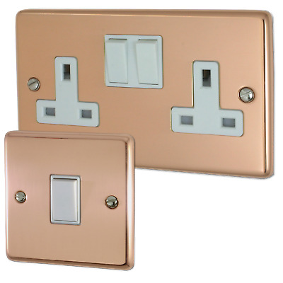 Copper Sockets and Switches (White Inserts)