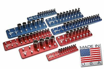 Billet Aluminum Socket Organizer Set Tool Holders/Trays
