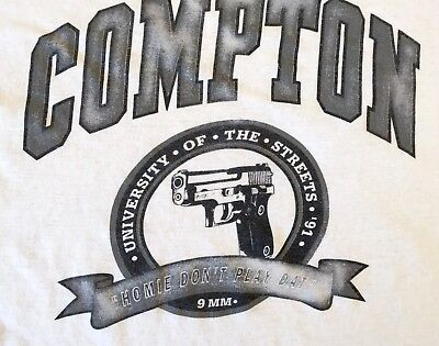 Compton N.W.A. Easy-E University of The Streets 1991 Vintage T-shirt Size XL