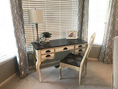 French provincial vintage white desk and chair