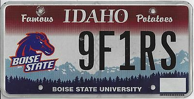 IDAHO BSU FIESTA BOWL and MWC FOOTBALL CHAMPS License Plate
