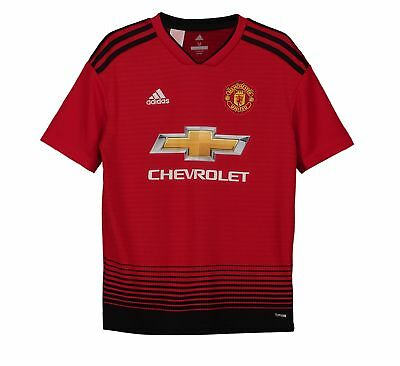 Manchester United FC Official Football Gift Boys Home Kit Shirt 2018 2019