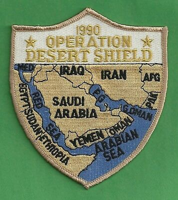 Operation Desert Shield Military Campaign Patch Map