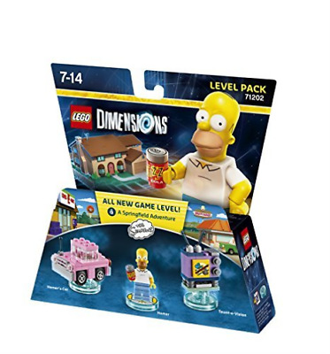 Toys-Lego Dimensions: Level Pack - The Simpsons /Video Game Toy GAME NUEVO