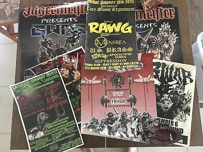 Lot Of 7 Gwar Posters Of Varying Sizes And Condtions. All Original Out Of Print