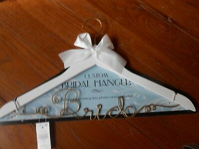 Bride to Be Wedding Dress Hanger, Wood and Wire Hangers for Gown White with Wire