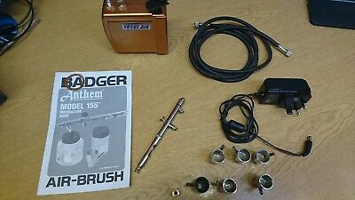 BADGER AIRBRUSH MODEL 155-7 ANTHEM - SUCTION FEED KIT With Compressor