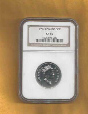 1997 Canada 50 Cents Ngc Sp 69 Specimen Proof