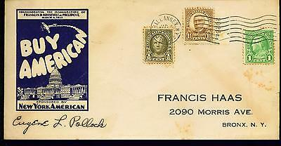 1933 FDR Inauguraation Day Cover  NY Cancel