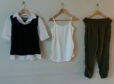 20 Pieces Maternity Clothes Bundle Size 8 to 12 New Look Gap Mamas Papas Work