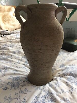 Large earthenware 2 handle jug/ urn/ vase