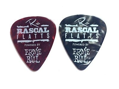 Rascal Flatts Guitar Pick Set Of 2 2012 Thaw Out Tour Picks. Jay Demarcus & Rex