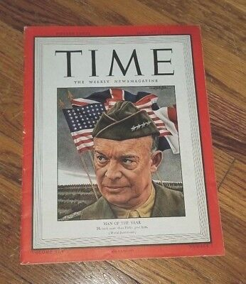 Historic WW2 Photos - TIME  Magazine January 1, 1945  Man of the Year Cover