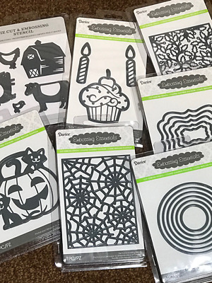 2019 NEWLY RELEASED DESIGNS Darice Embossing Folders - ALL BRAND NEW