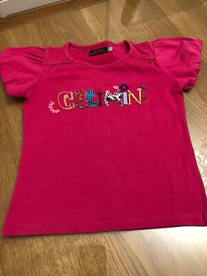 Girls Catimini Tshirt Age 6 Excellent Condition