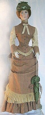 "Victorian Walking Suit Sewing Pattern for a 24"" lady Marion doll #17-24"