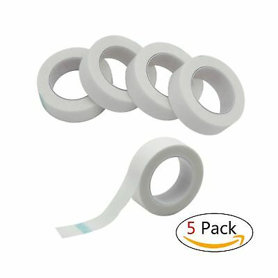 Adecco LLC 5 Rolls Medical Tape for Individual Eyelash Extension Supply