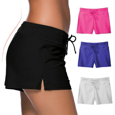 d4cc5de63120b Women Ladies Swim Pool Shorts Swimming Bikini Bottoms Boy Style Swimwear  Plus