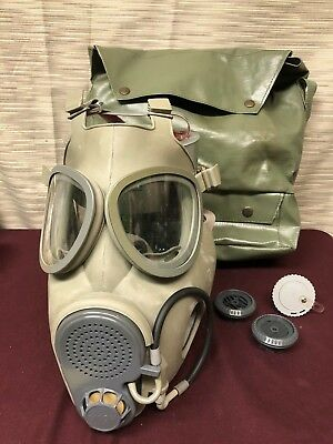 Czech-Military-M10M-NBC-Gas-Mask-w-Bag-Drinking-Tube-NEW