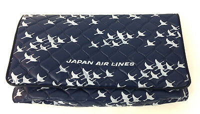 Vintage Japan Airlines Plastic Travel small Cosmetic Bag with Slippers