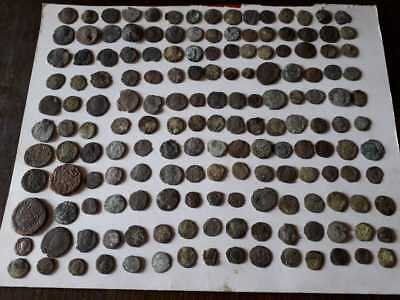Lot Of 165 Ancient Bronze Roman Coins  Uncleaned Low Quality