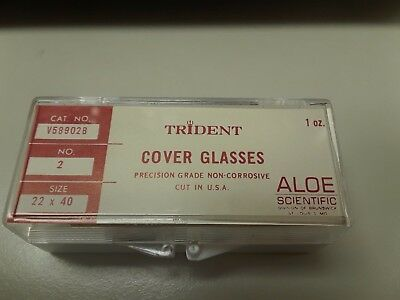 Trident 22 x 40mm Size #2 Cover Glass for Microscopy, 1oz