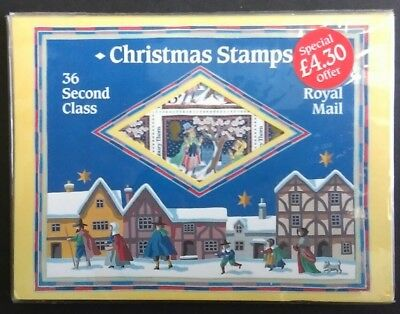 GB 1986 Christmas Folder with 36 13p (2nd class) stamps SG 1342Eu. sealed pack