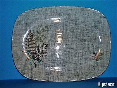 1950s English J & G Meakin Serving Platter with Rock Fern motif