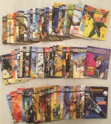 Commando comics 79 comic joblot 4500 range (no.s 4501 - 4582)