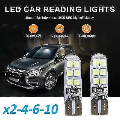 Bombillas T10 LED, Silicona Canbus Cob, 12SMD 2835/5630 5W5 DC12V, Car Bulbs.