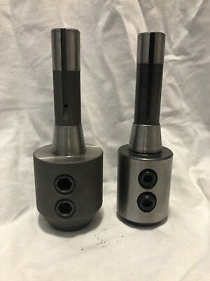 "2 PC R8 End Mill Holders 1-1/4"" and 1"""
