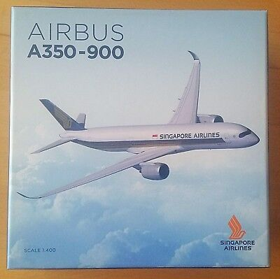 ⭐️NEU + OVP⭐Modell Scale 1:400⭐Airbus A350-900⭐️Singapore Airlines⭐