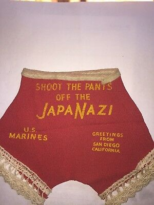 "WW11 U.S. Marines Souvenir "" Shoot The Pants Off The JapaNazi "" San Diego"