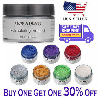 Mofajang  Unisex DIY Hair Color Wax Mud Dye Cream Temporary Modeling 7 Colors