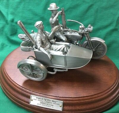 "Harley-Davidson Collectible Pewter Figurine ""catch of the day"" #4 LE 99450-93Z"