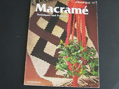 macrame book TECHNIQUES AND PROJECTS. A SUNSET BOOK. N