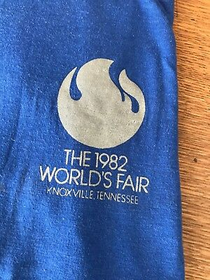 Blue t-shirt from 1982 World's Fair size large